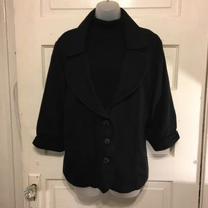 Torrid Sz 3xl (23/24) Black Blazer 3/4 Sleeves